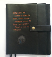 BLACK LEATHER DOUBLE BOOK COVER