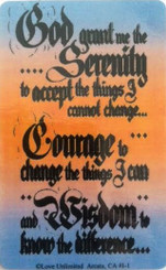 SERENITY PRAYER WALLET CARD
