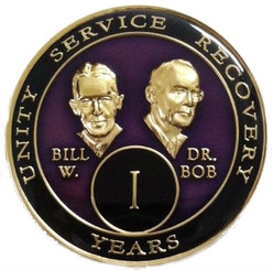 BILL & BOB PURPLE TRIPLATE MEDALLION