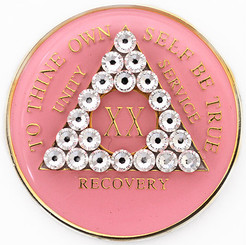 CRYSTALLIZED TRIPLATE PINK & DIAMOND MEDALLION