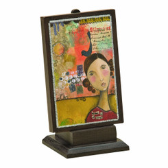 "KELLY RAE ROBERTS ""BRAVE IN ALL THINGS"" PLAQUE WITH STAND"