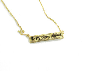 Enjoy Every Second Necklace