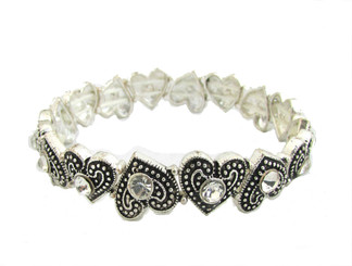 Heart Gem Stretch Bracelet