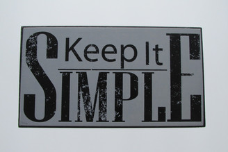 Keep it Simple - Plaque