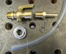 "Lever Style Fuel Petcock Stop Cock Gas Valve - with 1/4"" NPT Bung - Install KIT"