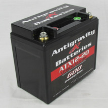Antigravity Batteries - Lightweight Motorcycle Lithium Ion Battery - OEM Case 20 Cell ATX12-20 YTX12-20 - LEFT or RIGHT Positive Terminal - MADE IN THE USA - 4 Pounds 7 Ounces - 600 CCA - Chopper Bobber Cafe Racer Harley