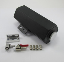 Fabricated Black Aluminum Auxiliary Gas Tank/Fuel Cell with Vented Cap