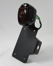 Motorcycle Axle Mount License Plate Bracket COMES WITH a Powder Coated BLACK 1940 - 1953 Chevy Tail Light