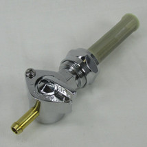 "1975-2006 Harley Davidson 22mm Filtered Petcock STRAIGHT Elbow Fuel Shut Off Valve - For Use with 1/4"" ID Fuel Hose - Replaces HD Part # 62168-81 - Chrome Plated - Motorcycle Chopper Bobber"