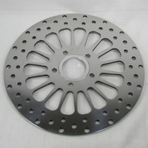 "11.5"" Drilled Rear Disc Brake Rotor for 1981 - Later Harley Big Twin 1979 - Later Harley Sportster - POLISHED - Replaces Harley Davidson Pt# 41789-92 41797-00  - Chopper Bobber Cafe Racer"