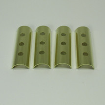 OLD-STF - Harley Brass Keeper Set for 1948-1965 Panhead, 1957-1984 Ironhead Sportster Motors - HOLES  - MADE IN THE USA