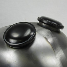 """DUAL Early """"CAM"""" Bayonet style LEFT AND RIGHT 1973 - 1982 FL FXS Harley Satin Black Vented and Non-Vented Motorcycle Gas Tank Cap - Replaces HD 61102-73 - Chopper Bobber Cafe Racer"""