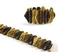 Tabby Bracelet Beading Kit *Black & Gold