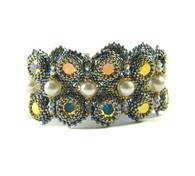 Lykoi Bracelet Beading Kit Blue & Crystal AB