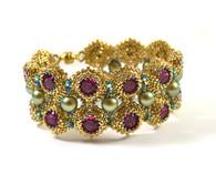 Lykoi Bracelet Beading Kit Gold & Fuchsia