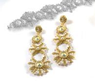 Whiskers Bracelet & Earrings Beading Kit *White & Gold