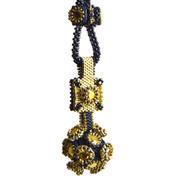 Manx Pendant Beading Kit Black & Gold