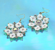 Winter White Earrings Beading Kit