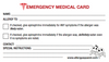 Included Medical ID card