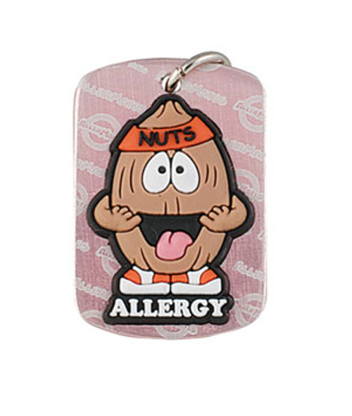 nut allergy dog tag