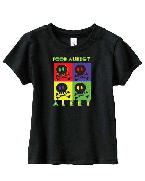 Food allergy alert short sleeve tee