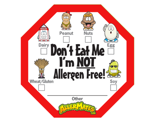 Allermates Food Allergy Stickers