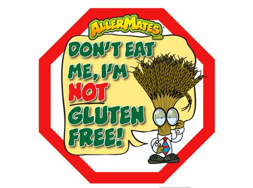 Allermates Gluten Allergy Stickers