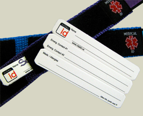 ID card is kept securely and out of sight within the ID bracelet
