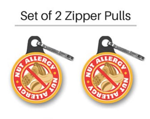 Allergy Zipper Pull