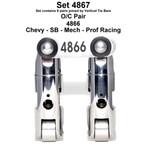 "MOREL 4867 SB Chevy Profesional Roller Lifters +.300"" Tall .810"" Wheel Dia .903"" Body Dia."
