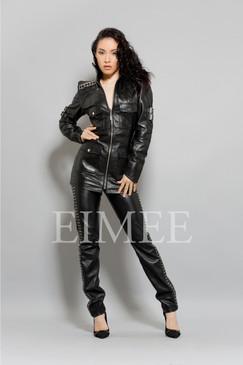 Black Leather Top Jacket Sexy Skin Tight michkeegan