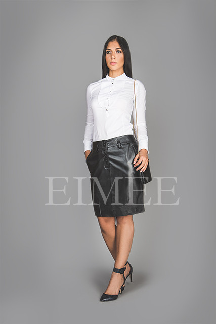 black leather skirt | nappa skins | tight fit skirt