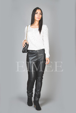 Full Grain Skinny Leather Leggings Skinny Fit JAQUELIN