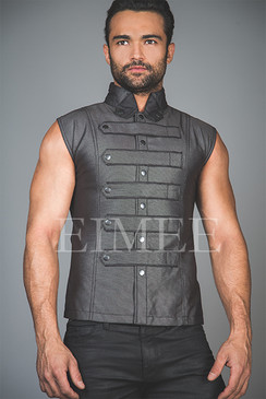 New Mens Steampunk Military Waistcoat Vest Top SANDRO