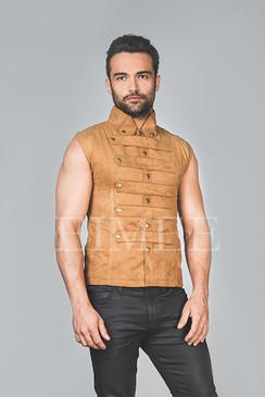 New Mens Steampunk Military Waistcoat Vest SANDRO