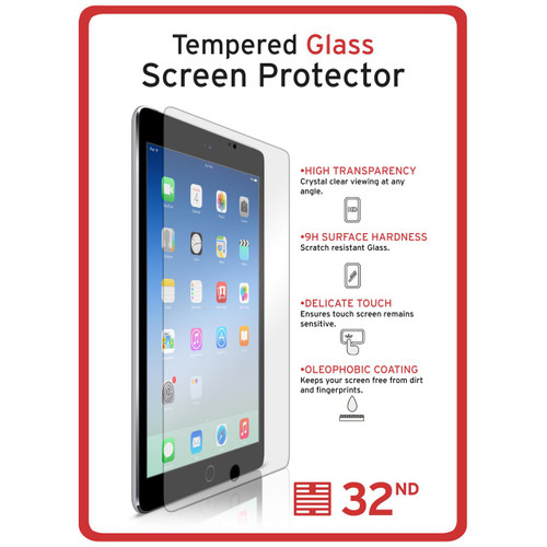 Apple iPad 2 / 3 / 4 tempered glass screen protector by 32nd.