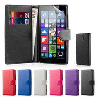 32nd synthetic leather book wallet Microsoft Lumia 640 Case in a range of colours.
