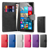 32nd synthetic leather book wallet Microsoft Lumia 535 Case in a range of colours.