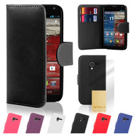 32nd faux leather book wallet Motorola Moto X Case.