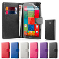 32nd faux leather book wallet Motorola Moto X2 Case.