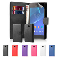32nd faux leather book wallet Sony Xperia M2 Case.