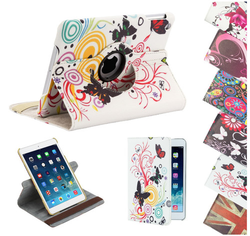 32nd 360 Degree synthetic leather design book stand Apple iPad Mini Case.