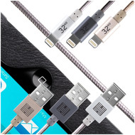 32nd Apple MFi Certified Lightning to USB data transfer and charging cable 1 meter.
