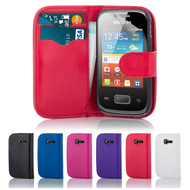 32nd faux leather book wallet Samsung Galaxy Pocket 2 Case in a great range of colours.