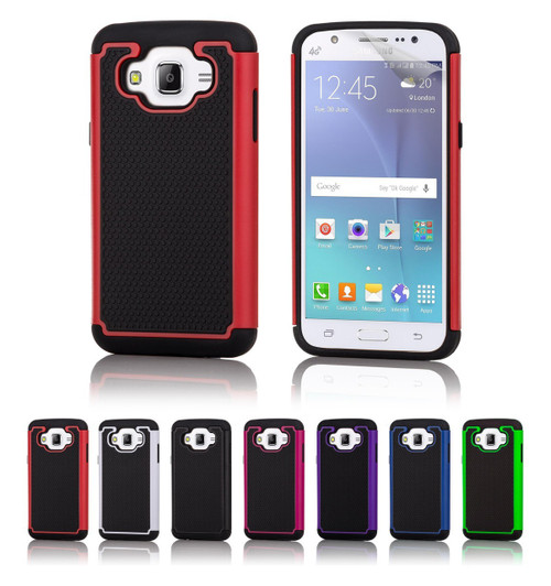 32nd dual-layer shockproof Samsung Galaxy J5 2015 Case in a range of stylish colours.