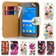 32nd attractive leather design book wallet Samsung Galaxy Ace 4 SM-G357FZ Case.