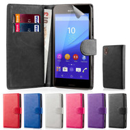 32nd faux leather book wallet Sony Xperia M5 Case in a great range of colours.