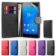 32nd book wallet leather Sony Xperia Z5 case including screen protector and stylus.