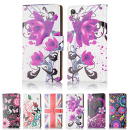 32nd colourful leather design book wallet Sony Xperia Z5 Compact Case.