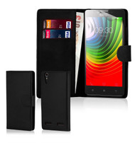32nd faux leather book wallet Lenovo K3 Note Case in black.